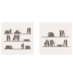 books on the shelf set - simply retro vector image