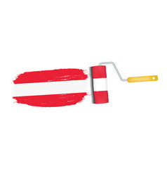 brush stroke with austria national flag isolated vector image