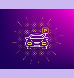 Car parking line icon auto park sign vector