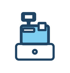 cash registrer machine vector image