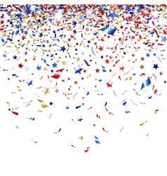 Colored confetti vector