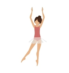 colorful dancer clears behind fifth position vector image vector image