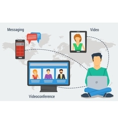 Concept of Internet communication vector image