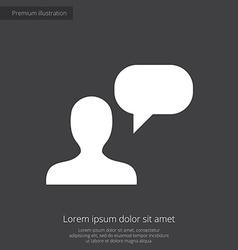 conversation premium icon white on dark background vector image