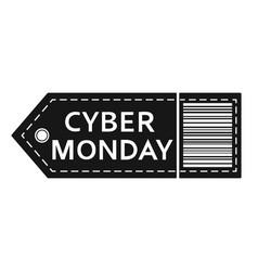 cyber monday sale inscription design template vector image