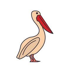 dalmatian pelican icon cartoon style vector image