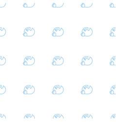 dancing emoji icon pattern seamless white vector image