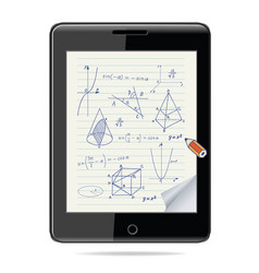 E-learning concept tablet computer vector