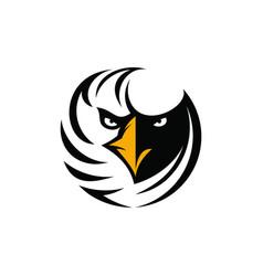 Eagle head with sharp gaze logo vector