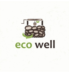 Eco well vector