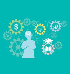 educational intelligence background logo ic vector image