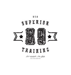Emblem workout club in retro style vector
