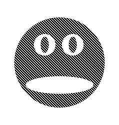 Face circle sign vector image