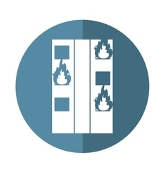 fire building residential emergency shadow vector image