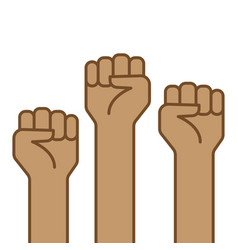 Fist hand up icon vector