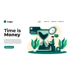 flat design time time is money vector image