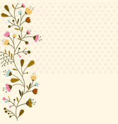 flowers set isolated on white background vector image