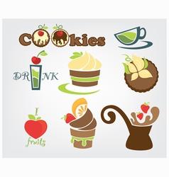 funny cookies vector image