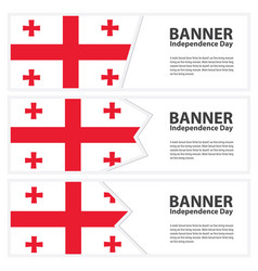 Georgia flag banners collection independence day vector