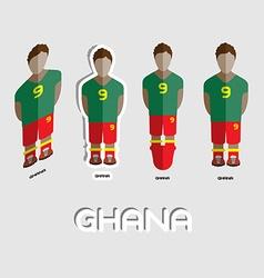 Ghana Soccer Team Sportswear Template vector image