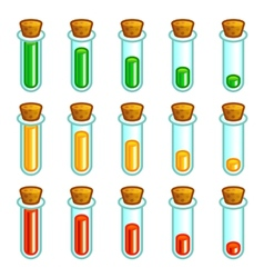 Glass test tubes game progress bar vector