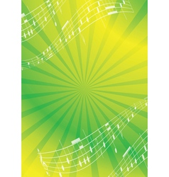Green and yellow abstract music background vector