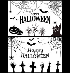 happy halloween banner on vector image