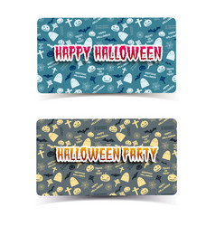 happy halloween horizontal banners vector image