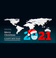 happy new year 2021 on background a snowy vector image