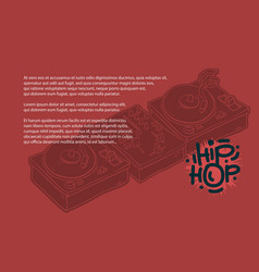 hip hop design with a dj sound mixer and vector image