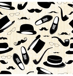 Hipster seamless background with elements vector