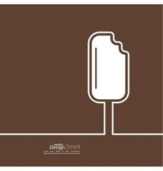 Ice cream on a stick vector