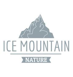 ice mountain logo simple gray style vector image