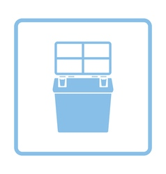 Icon of Fishing opened box vector