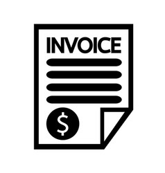 Invoice bill icon vector