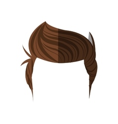 Isolated man hair design vector