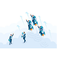 Isometric race for leadership competition vector