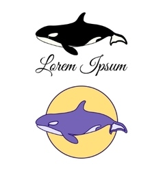 Killer Whale emblems vector image vector image