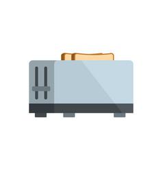 kitchen toaster icon flat style vector image