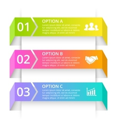 Line arrows infographic Template for 3d vector