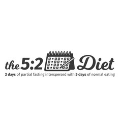 Logo and header concept fast diet 5 2 vector