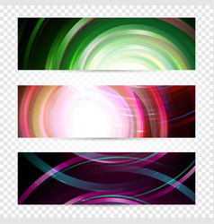 magic galaxy banners design spiral space vector image