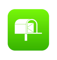 mailbox icon digital green vector image