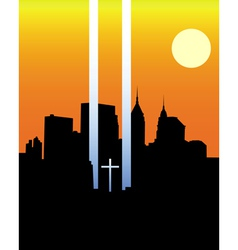 Memorial twin towers vector