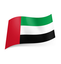 national flag of united arab emirates green vector image