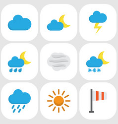 Nature flat icons set collection of hailstones vector