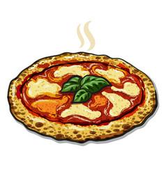 Neapolitan pizza vector