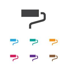 Of equipment symbol on roller vector