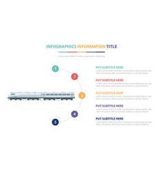 Old train infographic template concept with five vector
