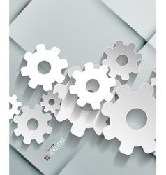 Paper gear modern design vector